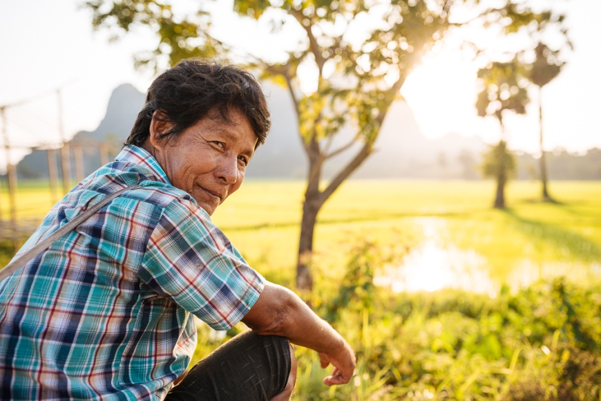 Portrait of Burmese man near Hpa-an, Kayin State. Myanmar, Asia