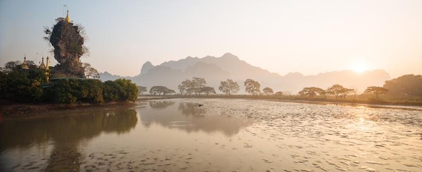 Kyauk Ka Latt Pagoda, Hpa-an, Kayin State, Myanmar