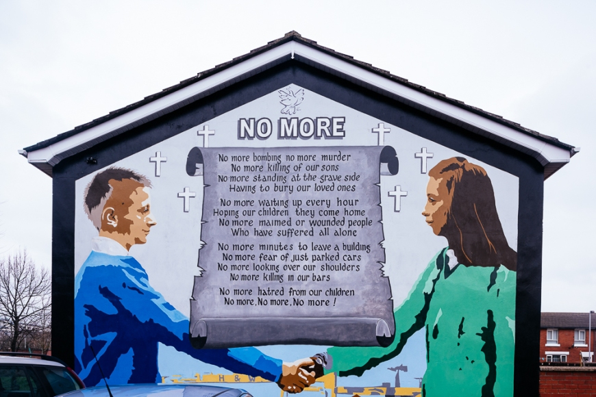 peace mural belfast northern ireland