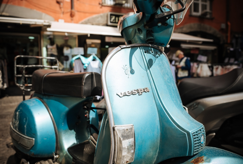 Vespa Moped, Naples, Italy, Europe