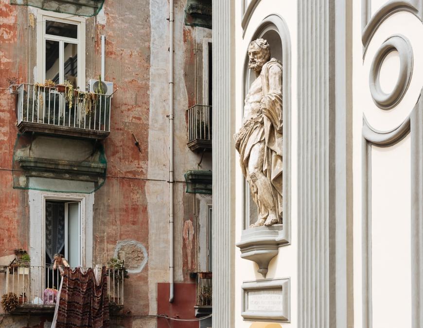 Exterior of Basilica di San Paolo Maggiore, Naples, Italy, Europe