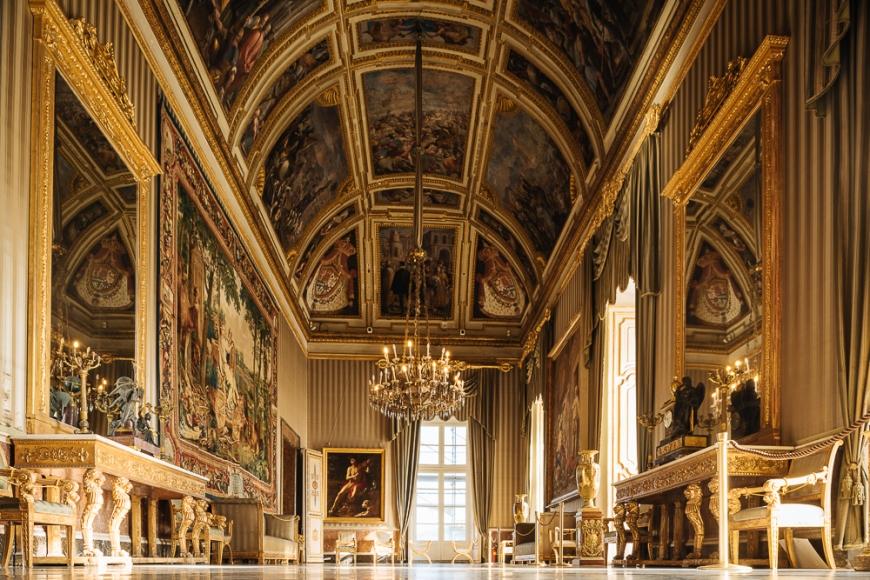Interior of Palazzo Reale di Napoli, Naples, Italy, Europe