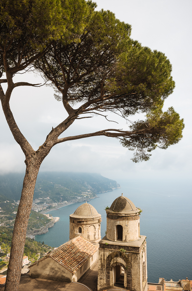 View from Villa Rufolo, Ravello, Amalfi Coast, Campania, Italy, Europe