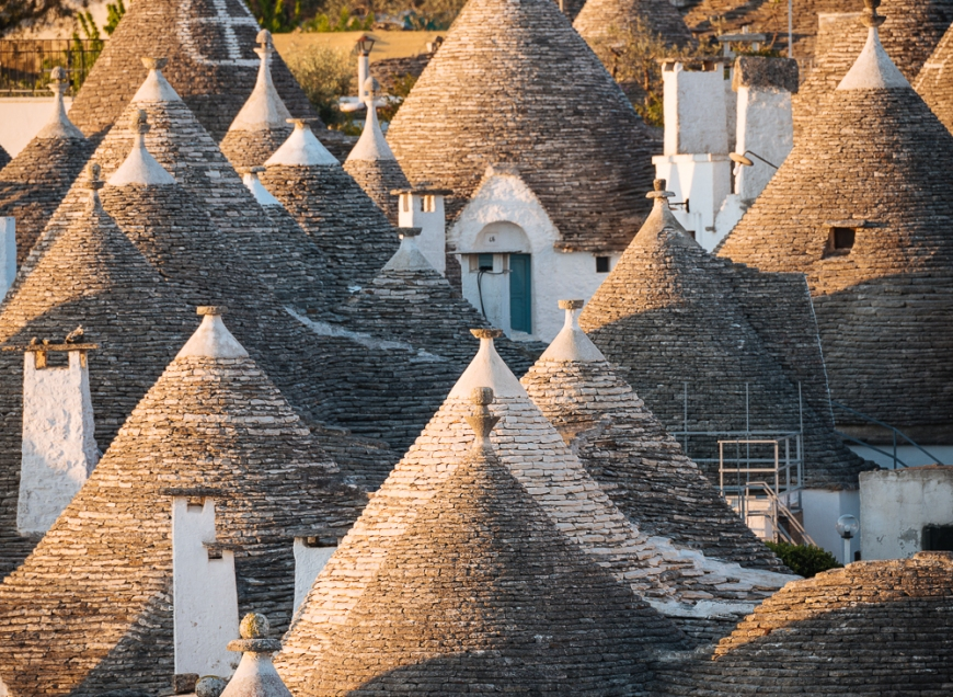 Traditional Trulli style houses in Alberobello, Puglia, Italy, Europe