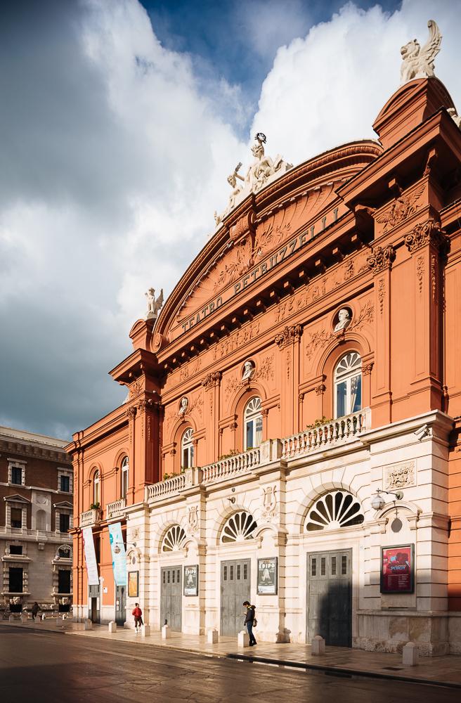 Exterior of Teatro Petruluzzelli, Bari, Puglia, Italy, Europe