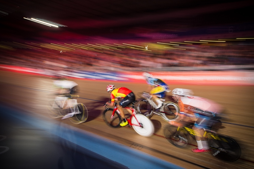 Six Day Cycling at The Velodrome, London. October 2017
