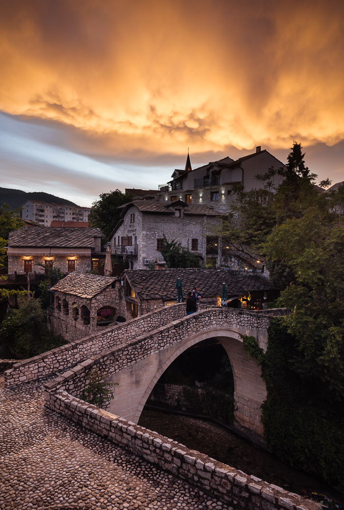 The Crooked Bridge, Mostar, Bosnia