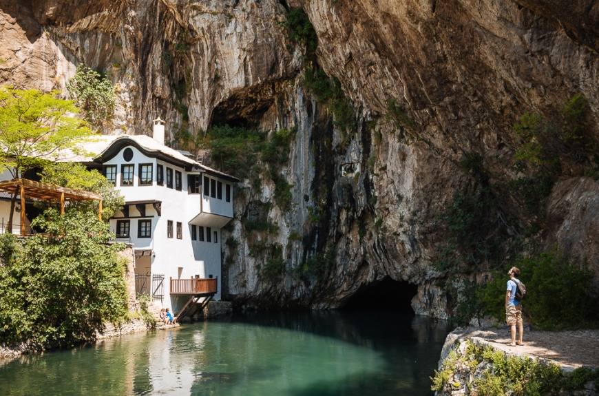 Exterior of Tekija Dervish House, Blagaj Village, Bosnia & Hercegovina