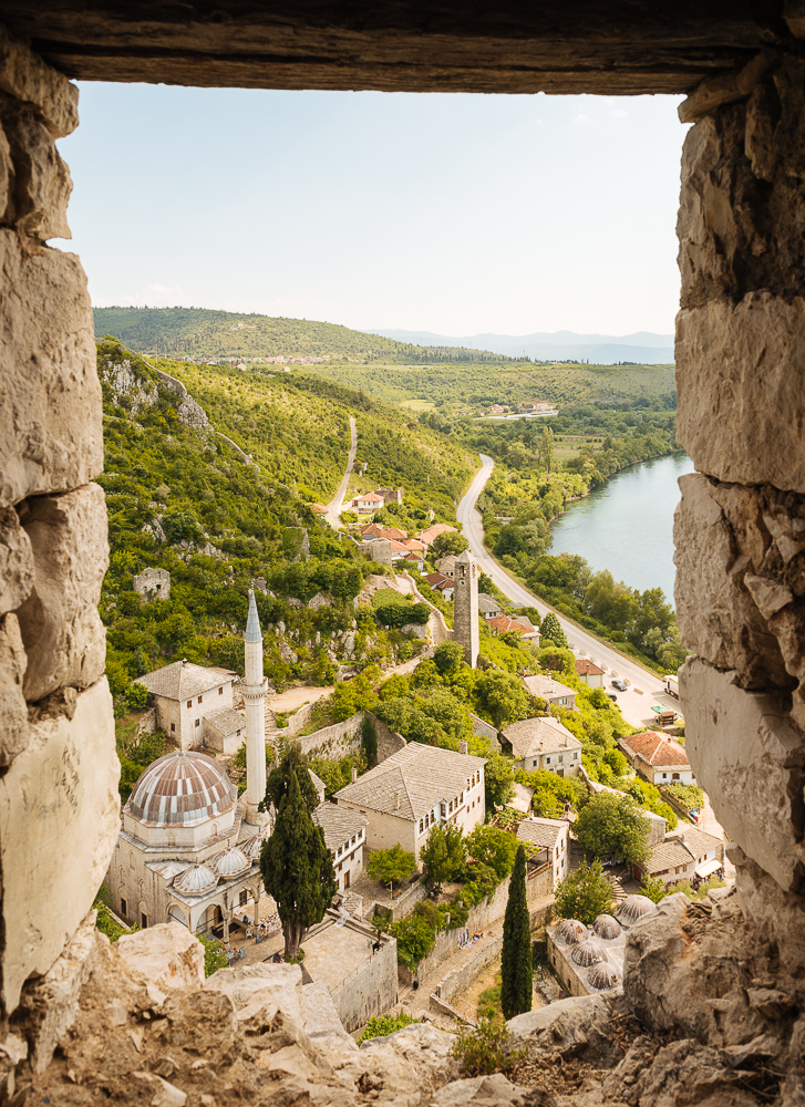 View from Fort Walls over Počitelj, Bosnia & Hercegovina