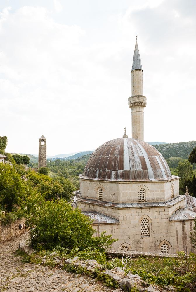Exterior of Hadži Alijna Mosque, Počitelj, Bosnia & Hercegovina