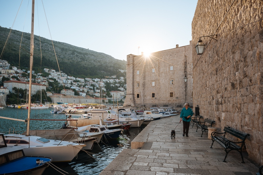 Harbour at dawn, Old Town, Dubrovnik, Croatia