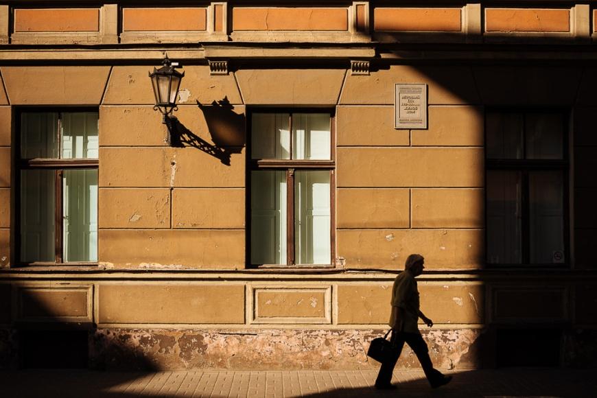 Facade of building, Riga, Latvia, Baltic States, Europe