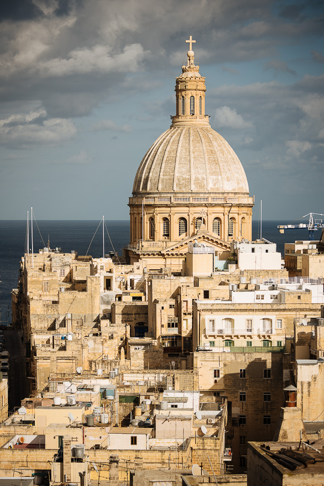 Dome of Basilica of Our Lady of Mount Carmel, Valletta, Malta