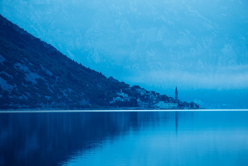 Dawn in The Bay of Kotor, Montenegro