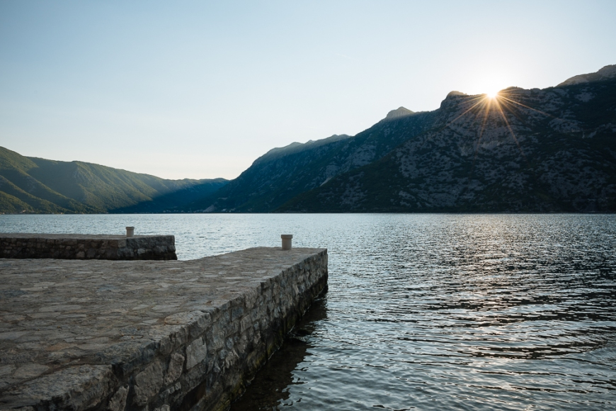 Sunset from Risan, Bay of Kotor, Montenegro
