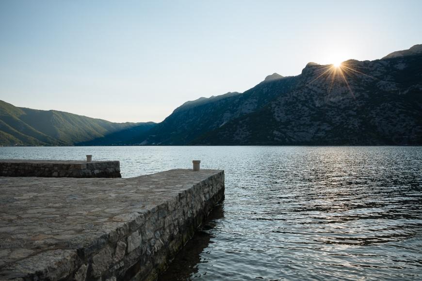 Sunset from Risan, Bay of Kotor, Montenegro