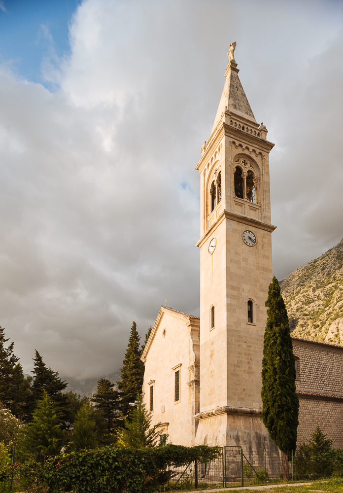 Exterior of Church, Dobrota, Bay of Kotor, Montenegro