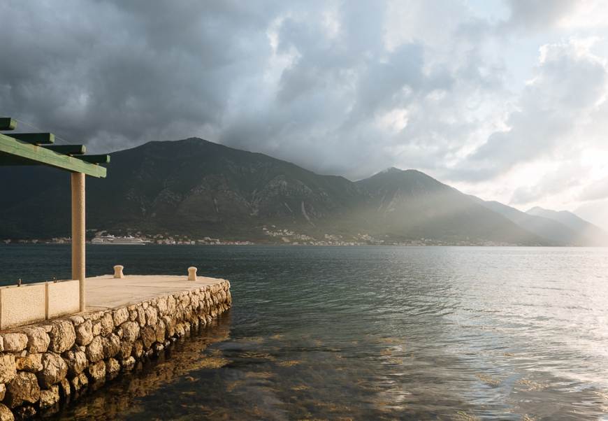 View from Dobrota, Bay of Kotor, Montenegro