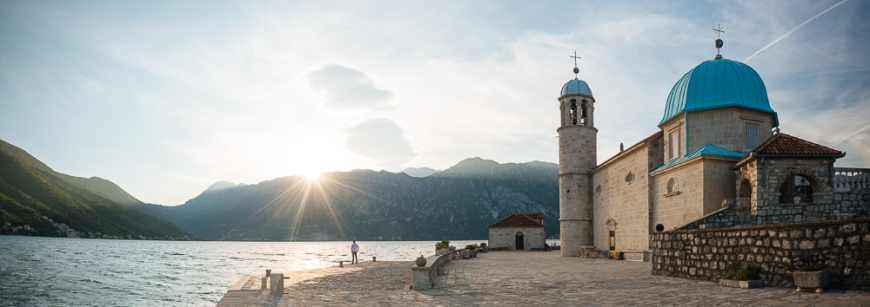 Exterior of The Roman Catholic Church of Our Lady of the Rocks, Our Lady of the Rocks Island, Bay of Kotor, Montenegro