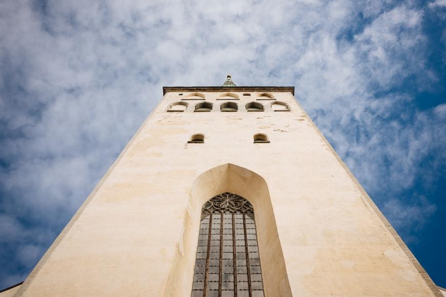 Exterior of St Olaf's church, Old Town, Tallinn, Estonia, Europe