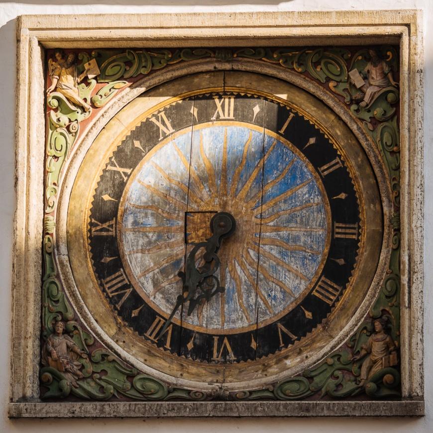 Town Hall Clock, Old Town, Tallinn, Estonia, Europe