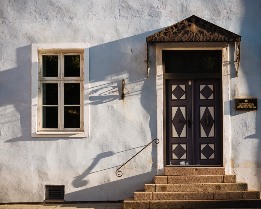 Facade of traditional building, Old Town, Tallinn, Estonia, Europe
