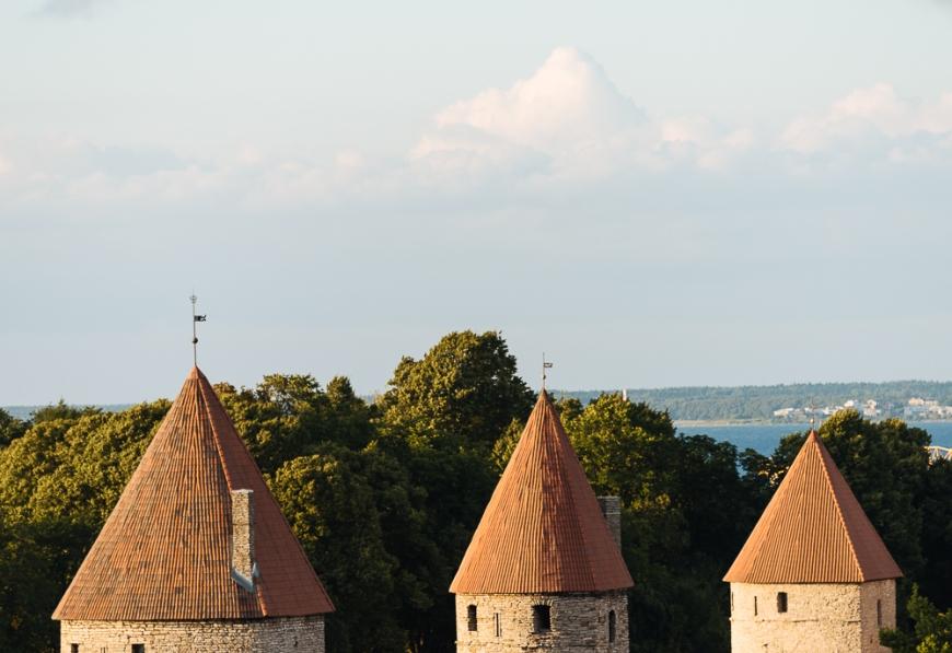 View from Toompea Hill, Old Town, Tallinn, Estonia, Europe