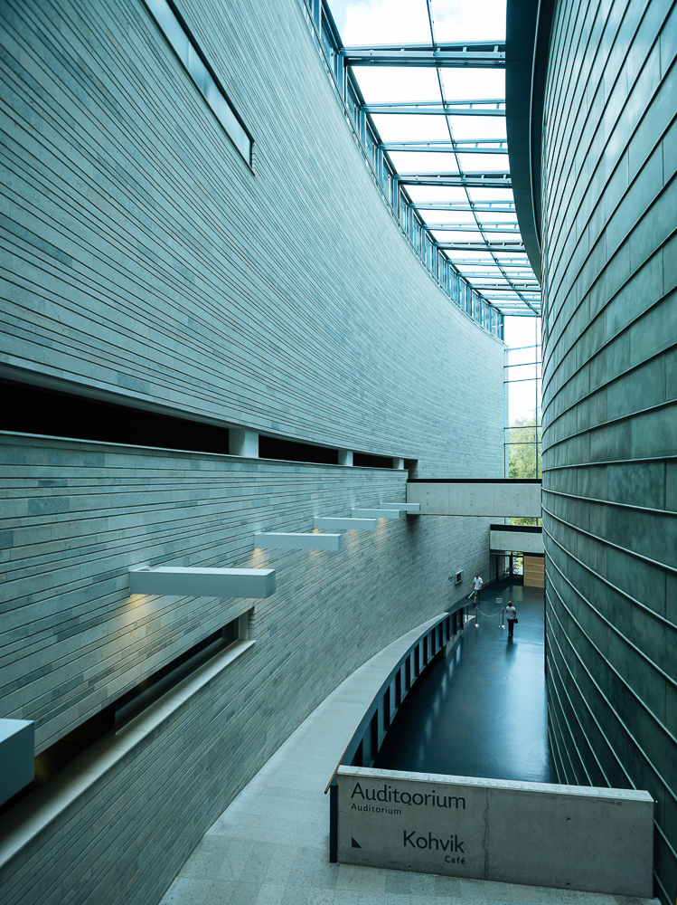Interior of KUMU Art museum of Estonia, Tallinn, Estonia, Europe