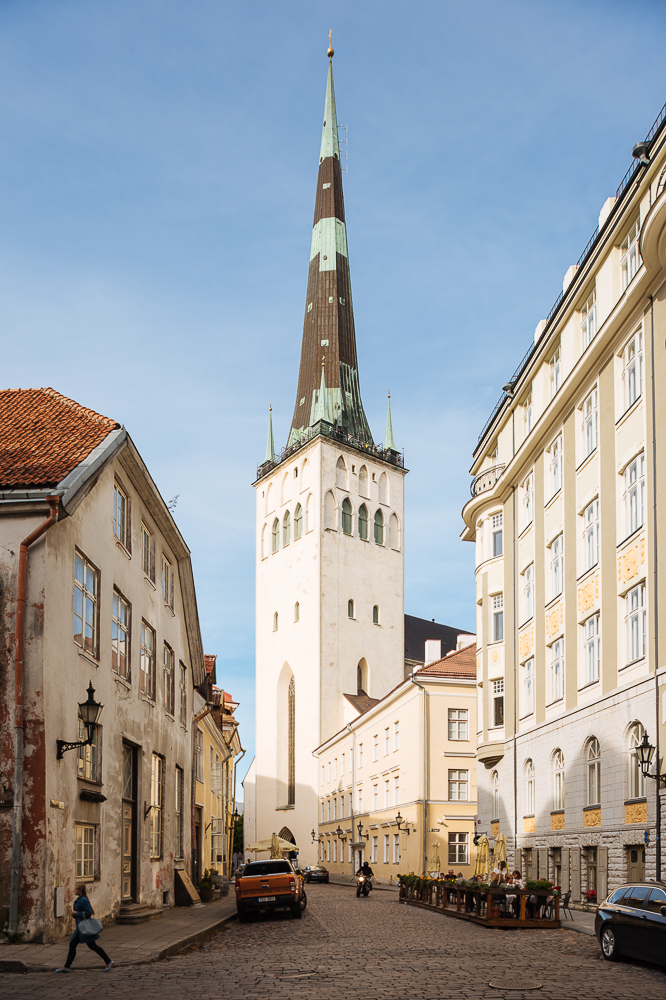Exterior of St Olaf's church, Old Town, Tallinn, Estonia, Europe