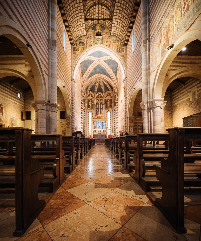 Interior of Basilica di San Zeno Maggiore, Verona, Veneto Province, Italy, Europe