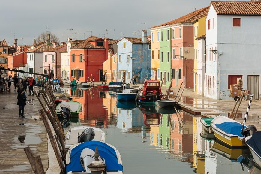 Canal, Burano, Veneto Province, Italy, Europe