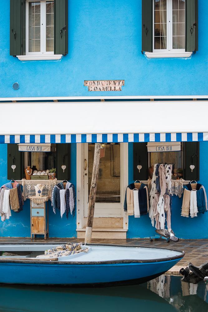 'Blue House', Burano, Veneto Province, Italy, Europe