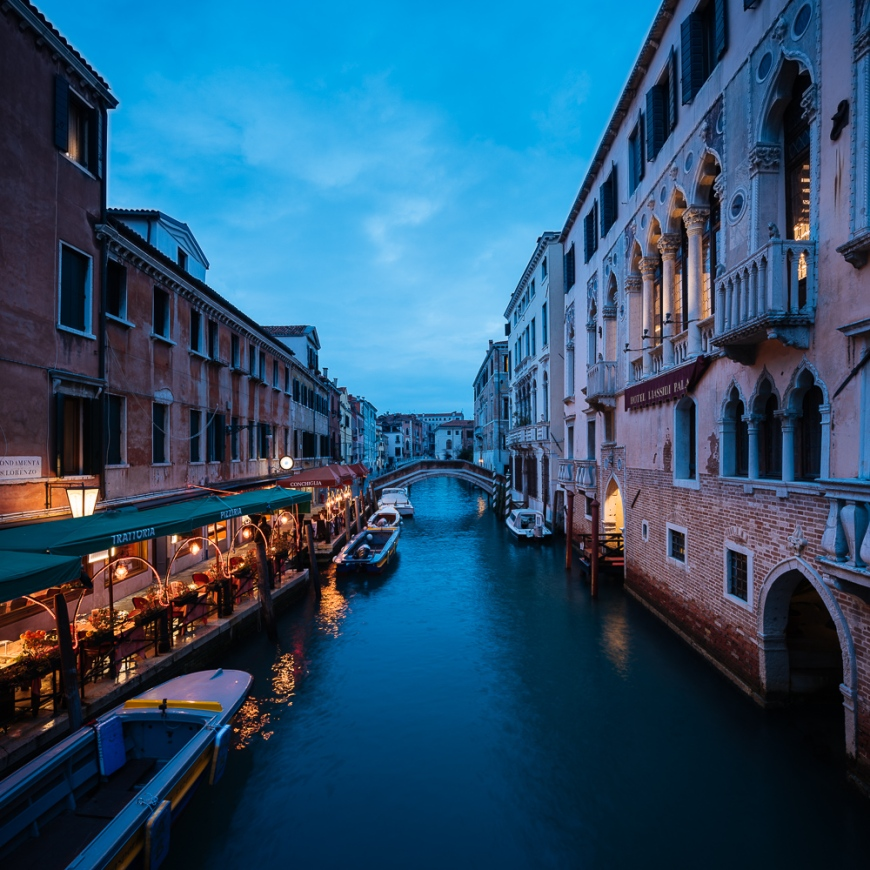 Canal at night, San Marco, Venice, Veneto Province, Italy, Europe