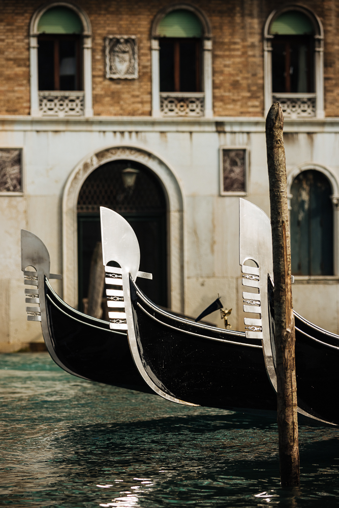 Detail on Gondola, Venice, Veneto Province, Italy, Europe
