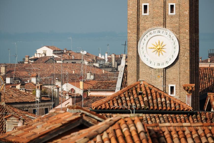 Clocktower, Venice, Veneto Province, Italy, Europe