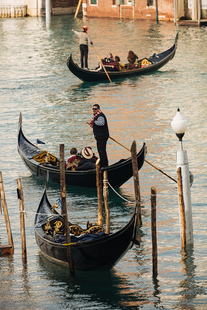 Gondolas on Grand Canal, Venice, Veneto Province, Italy, Europe
