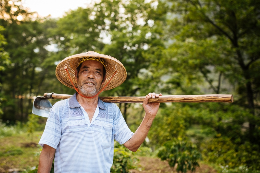 Portrait of farmer, Guilin, Guangxi Province, China