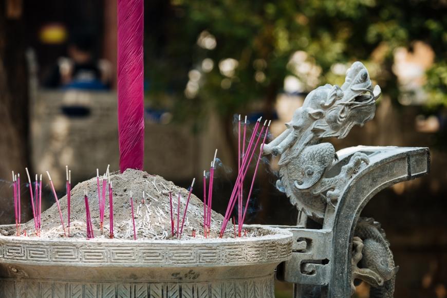 Incense sticks, Confucian Temple, Jianshui, Yunnan Province, China