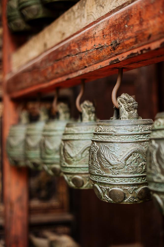 Bells, Confucian Temple, Jianshui, Yunnan Province, China