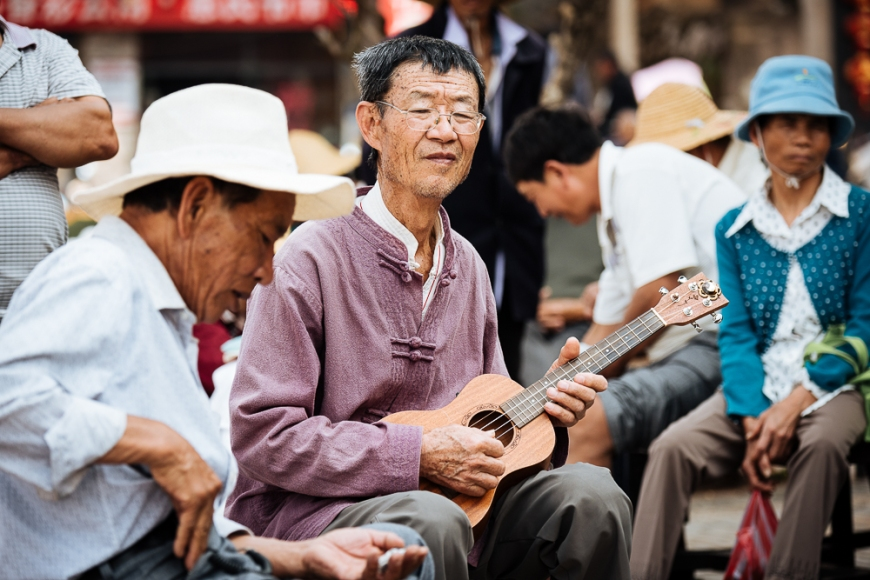 Local Musicians, Jianshui, Yunnan Province, China