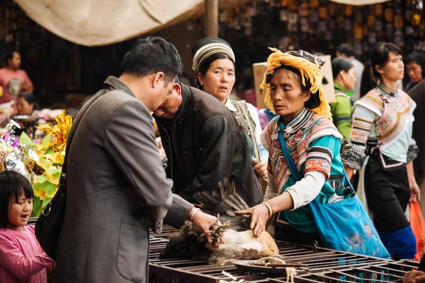 Xinjie Local Market, Yuanyang, Yunnan Province, China