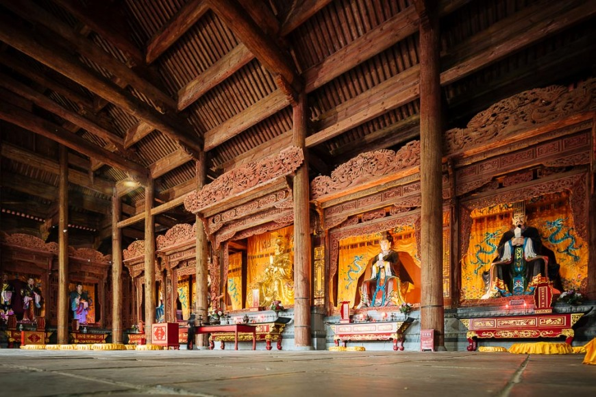 Interior of Temple, Dali, Yunnan Province, China