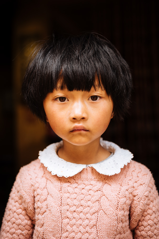 Portrait of girl, Shaxi, Yunnan Province, China