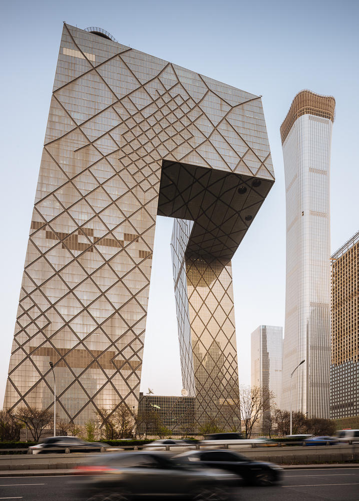 Exterior of CCTV Building, Beijing, China