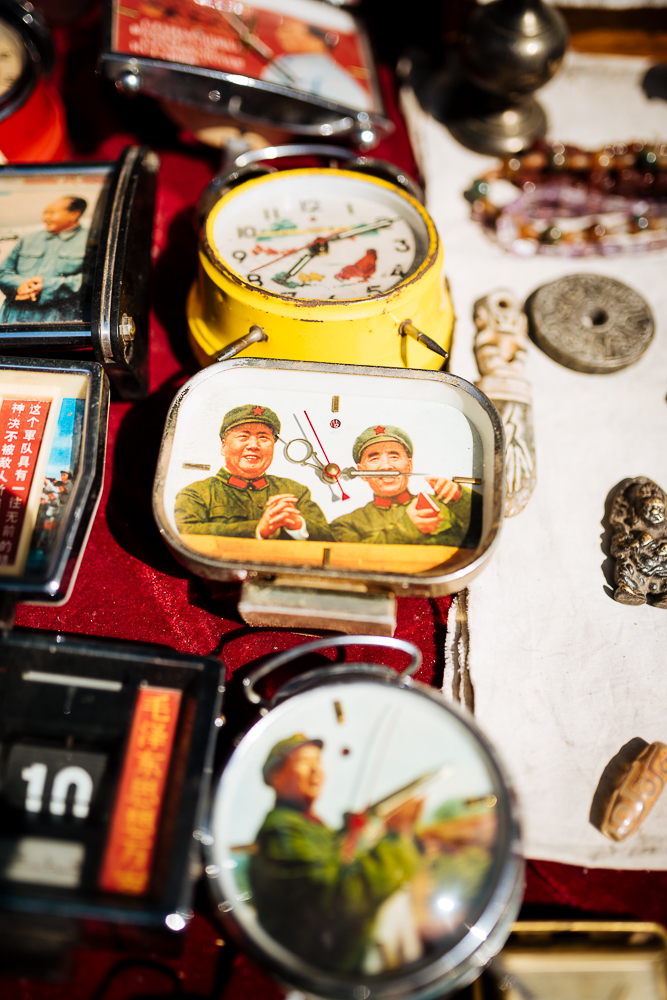 Chairman Mao Clocks, Panjiayuan Flea Market, Beijing, China