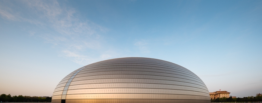 National Centre for the Performing Arts at sunset, Beijing, China