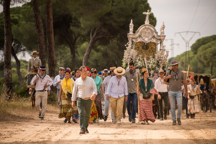 Pilgrimage of El Rocio, Huelva district, Andalucia, Spain