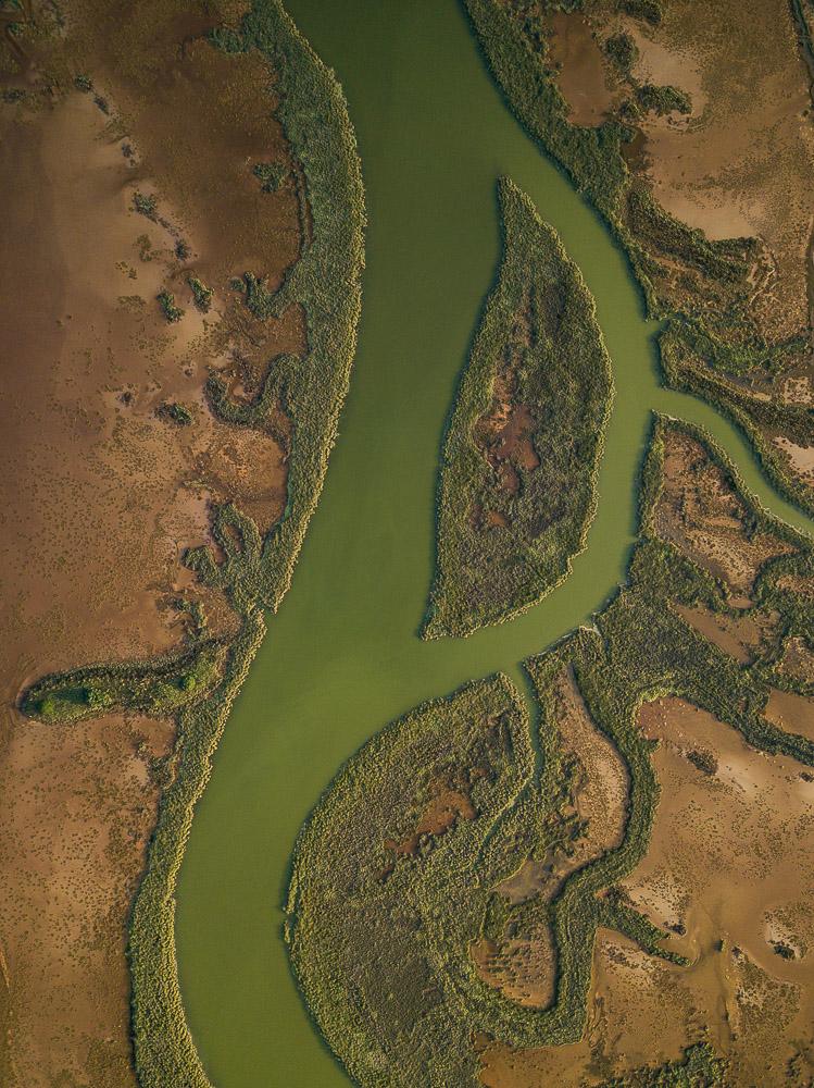 Aerial view of Rio Tinto, Huelva District, Andalucia, Spain