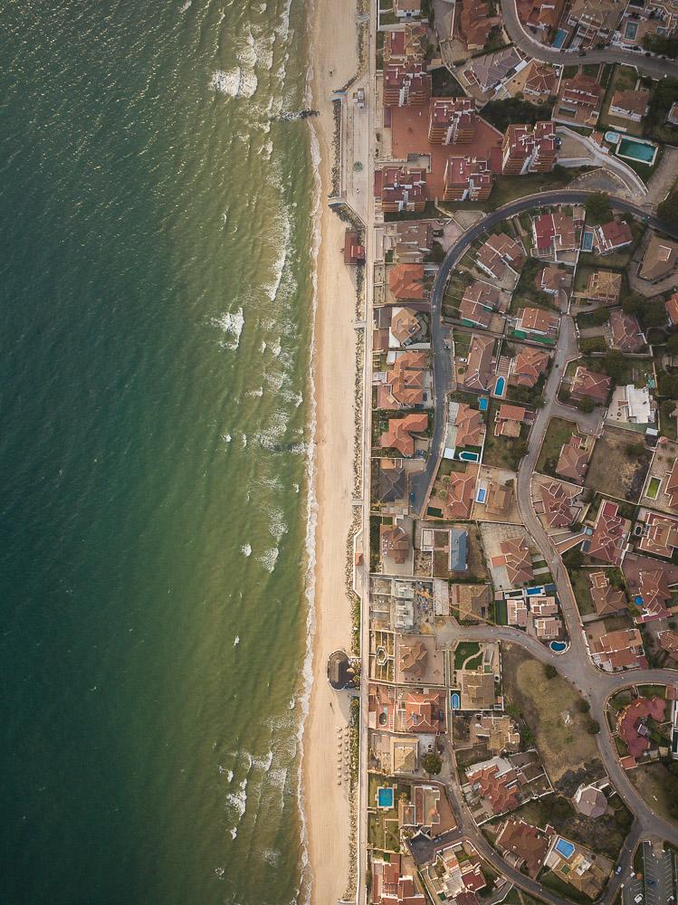 Aerial view of Matalascanas, Huelva District, Andalucia, Spain