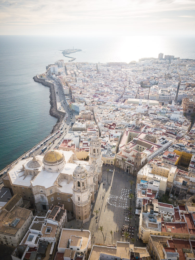 Aerial view of Cadiz, Andalucia, Spain